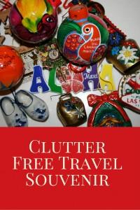 Clutter Free Travel Souvenir