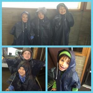 Raincoats souvenir from Sulphur Mountain