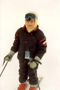 Travelling Kid Skiing