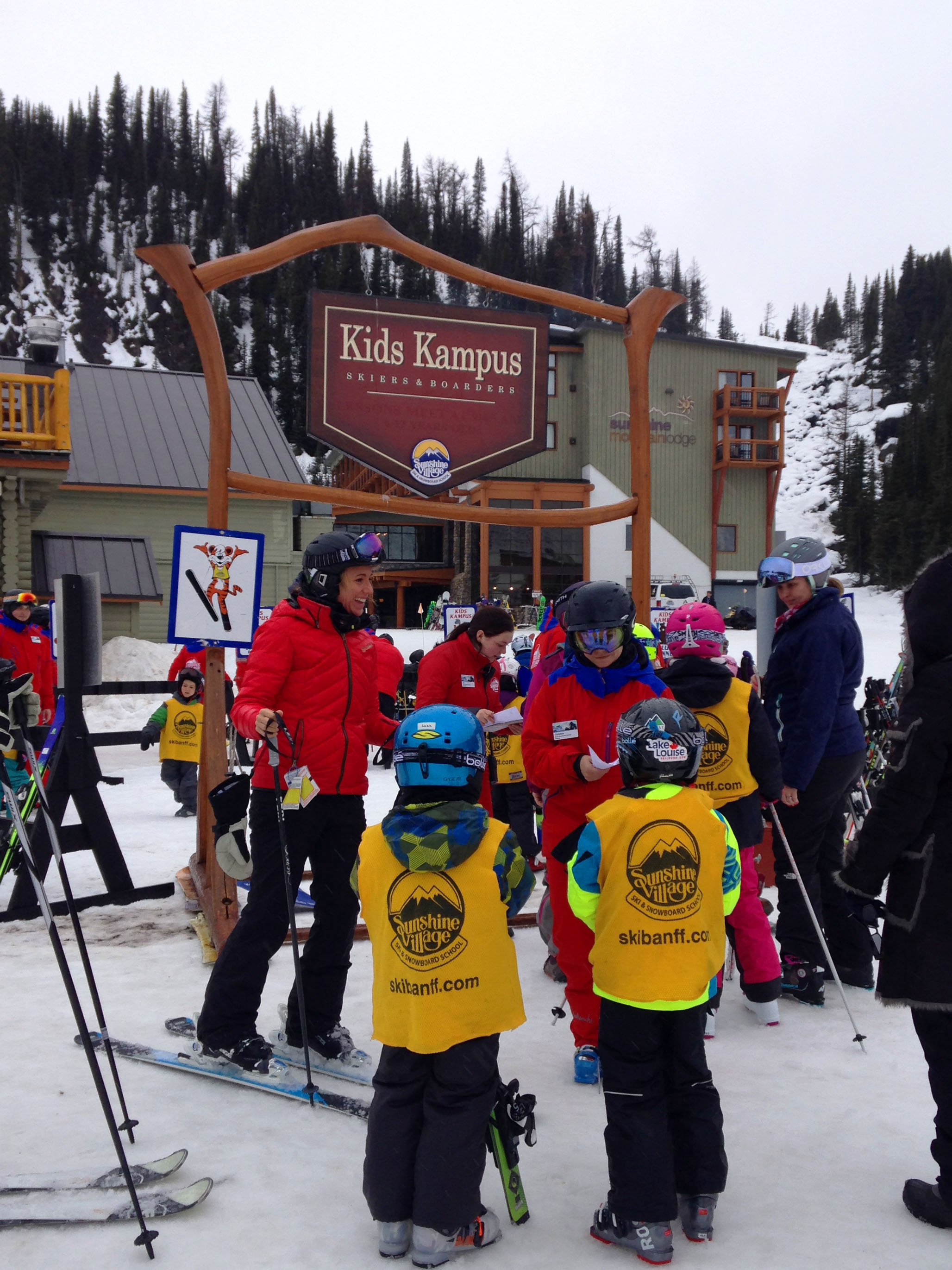 Find out the best things to do in Banff Sunshine Village Ski Resort with Kids, located in Banff National Park in Canada. Details about kids camp, daycare, lift tickets, lessons and more! Make your trip to Sunshine Village Resort with kids easy with all these great winter ski and snowboard tips. #sunshinevillage #canada #skivacation #skifamily #skitrip