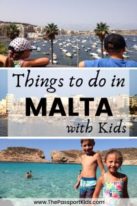 Find out the best things to do in Malta with kids. What to do in Malta including Valletta, Blue Lagoon, Popeye Village, Gozo Island, Malta National Aquarium and best beaches to visit on your next family holiday to Malta. All the information you need to make your Malta vacation fun and easy with kids! #malta #maltawithkids