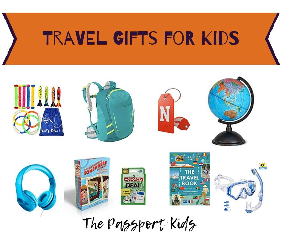 Looking for ideas and the perfect travel gift for kids? Find out some great gift ideas for those kids who travel with their families. Fun, small, outdoor, unique, experience, educational and practical gift ideas for kids that they will love. #travelgifts #kidsgiftideas #familytravel #fungifts