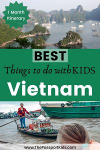 Vietnam Itinerary - 4 weeks of Things to do in Vietnam with kids. Find out all the best places to see and visit on your next family trip to Vietnam including Ho Chi Minh City, Hanoi, Halong Bay, Hue, Da Nang, Hoi An, Mekong Delta and Phu Quoc. #vietnam #HoChiMinh #Hanoi #HalongBay #Hue #Danang #HoiAn #Mekong #PhuQuoc