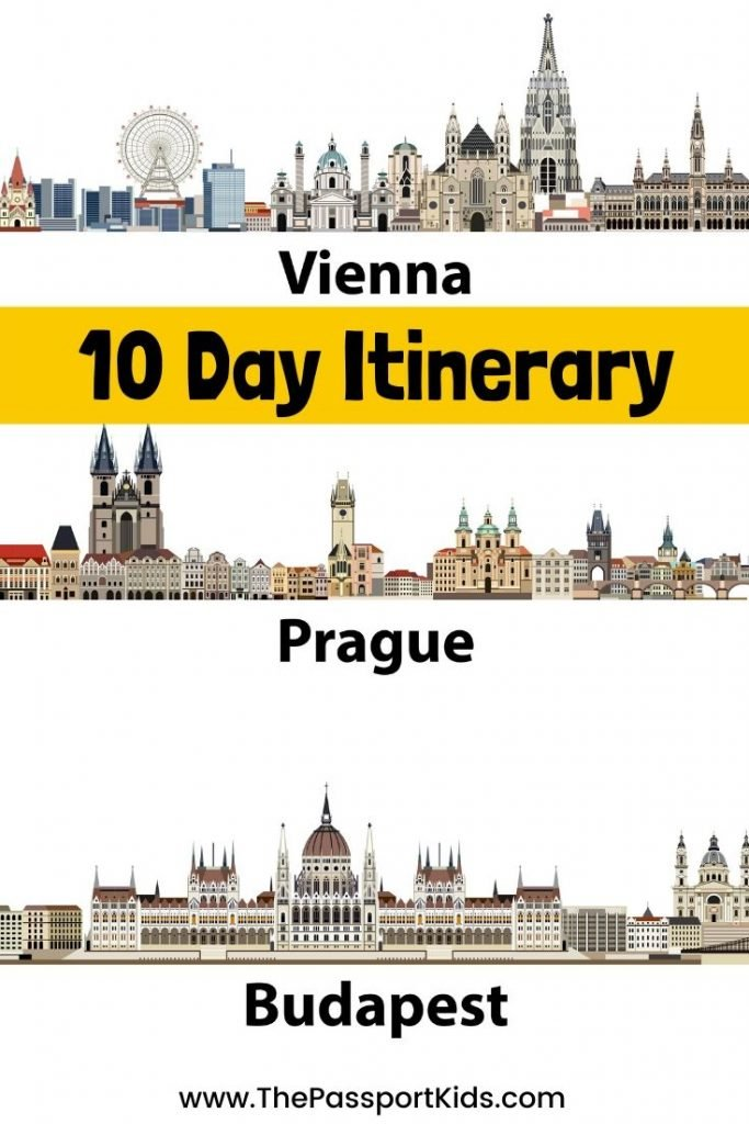An easy 10 Day Prague, Vienna, Budapest itinerary of Central Europe. Details on what to do and places to see in Prague, Vienna & Budapest! Includes MAPS for 2 day itineraries in each city. #prague #vienna #budapest #austria #hungary #czechrepublic #centraleurope #itinerary #europe