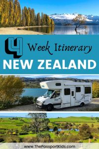 The ultimate New Zealand Itinerary 4 weeks road trip around North Island and South Island of New Zealand. Find out all the best places to see and things to do in New Zealand on this itinerary including Queenstown, Auckland, Milford Sound, Hobbiton, Christchurch, Lake Wanaka and more! #newzealand #campervannewzealand #newzealanditinerary #campingnewzealand #queenstown #lakewanaka #milfordsound