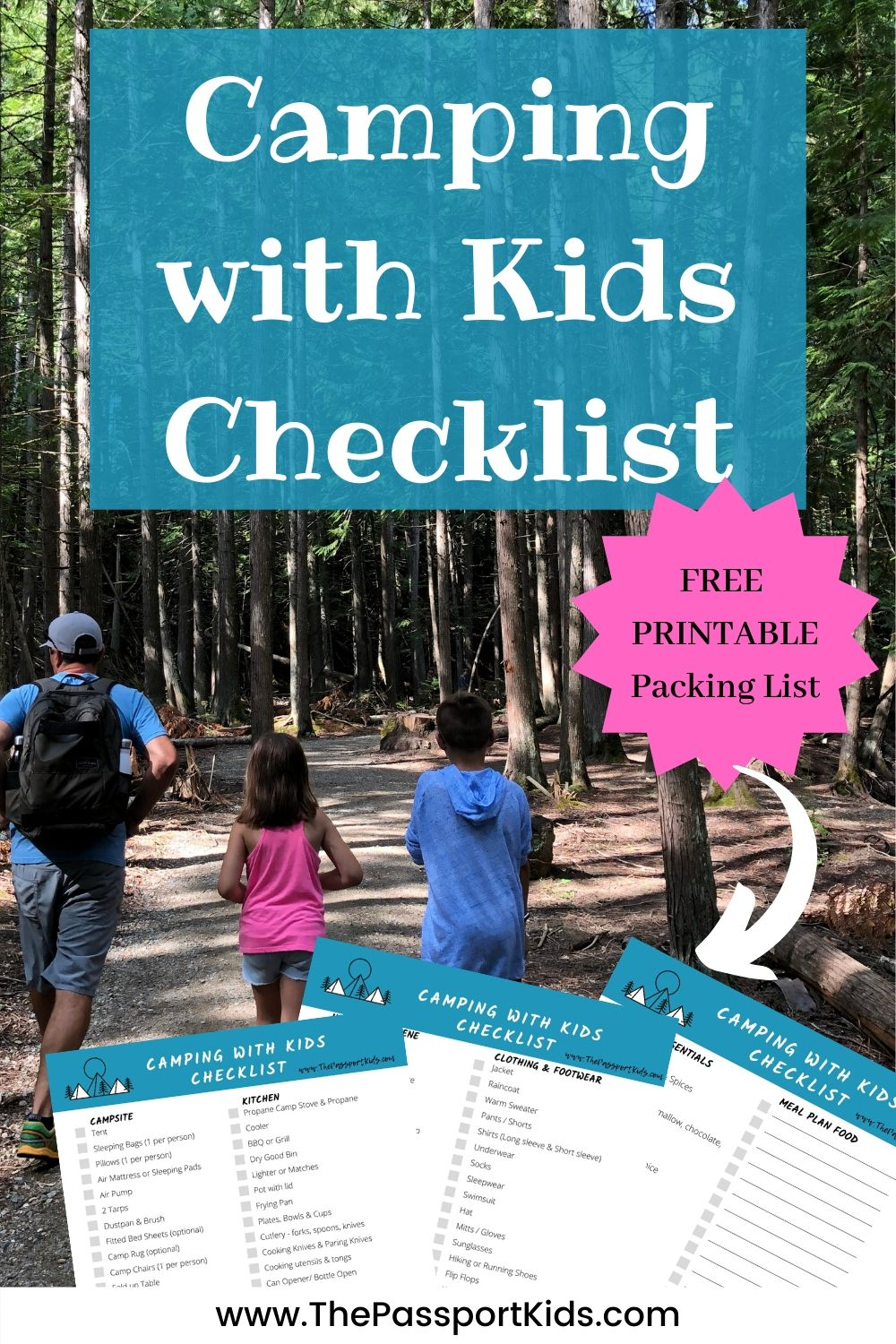 Camping With Kids Checklist The Ultimate Family Camping Packing List The Passport Kids Adventure Family Travel
