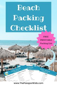 Family Beach Packing Checklist: The Ultimate Beach Packing List with everything that you need to pack for your next family beach vacation. An easy and simple list to help you pack for a hot holiday with the kids. A simple checklist that is PRINTABLE for families that loves beach vacations including beach clothing, beach gear, travel gear and more! #beachpackinglist #beachpacking #allinclusivepacking #beachchecklist #hotholidaypacking