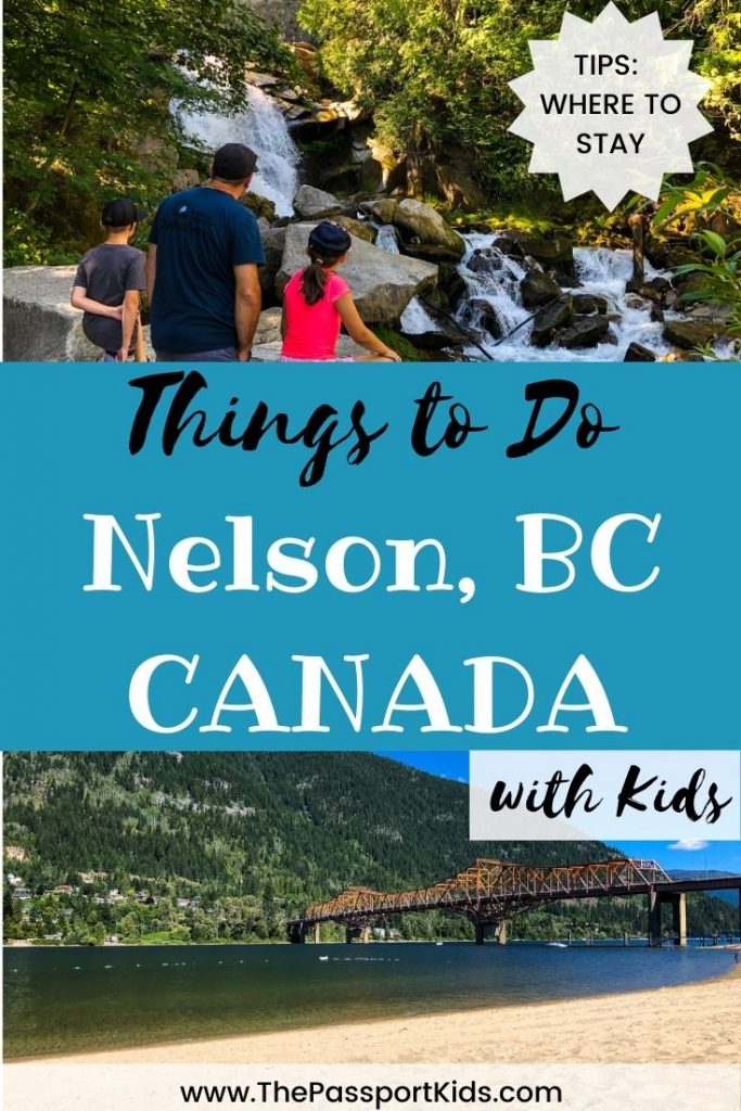 Find out all the best things to do in Nelson, BC with kids! Nelson British Columbia has so much to explore in the Kootenay area including Kootenay Lake, Rotary Lakeside Park, Baker Street, local artisans, Pulpit Rock, Kootenay Glacier Park, hiking, biking, paddle boarding and so much more! Includes a MAP of the area for things to do in the Kootenay area too. #nelson #explorebc #kootenay #explorekootenaylake #nelsonbc #nelsoncanada